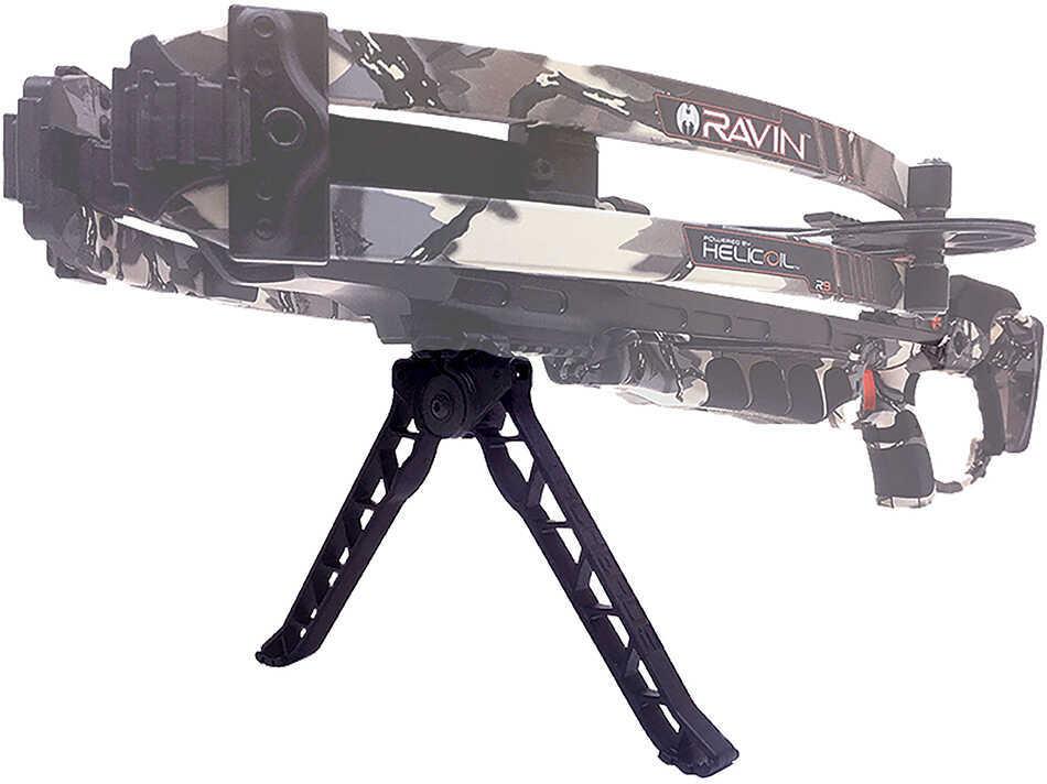 Ravin Crossbows, TacHeads Quick-Detach Crossbow Bipod, Black