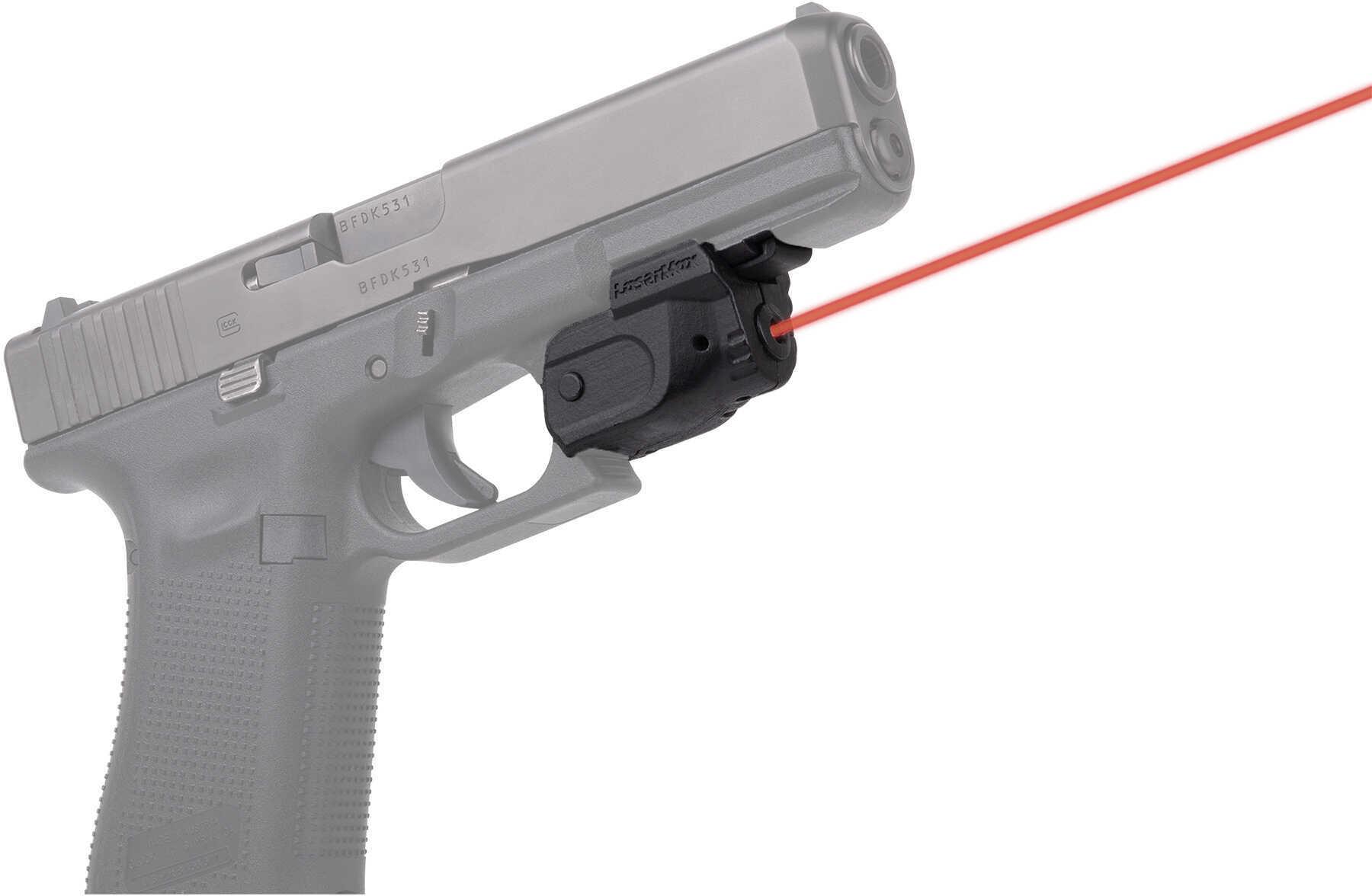 LaserMax Lightning Universal Rail Mounted Red Laser With GripSense Technology Matte Black Housing