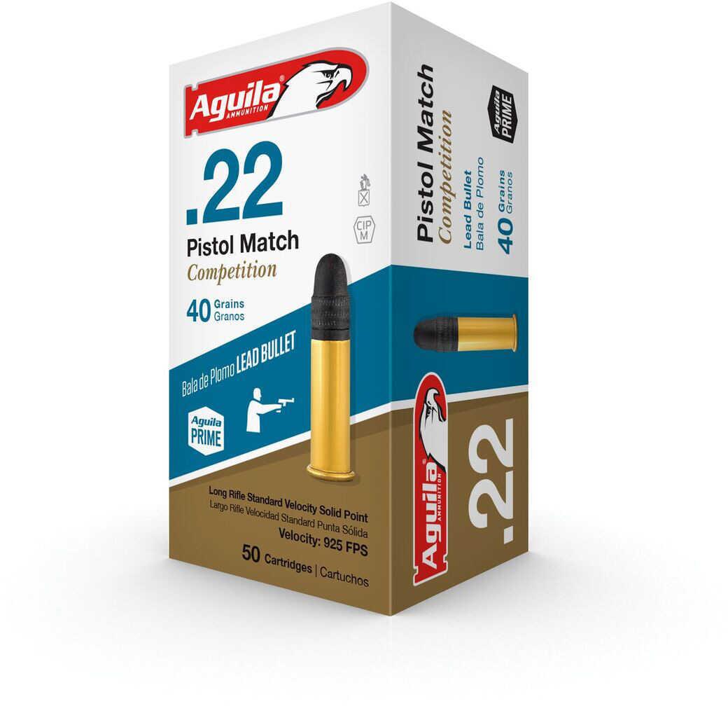 AGU Pistol Match COMPETI 22LR 40Gr Lead SP 50/100