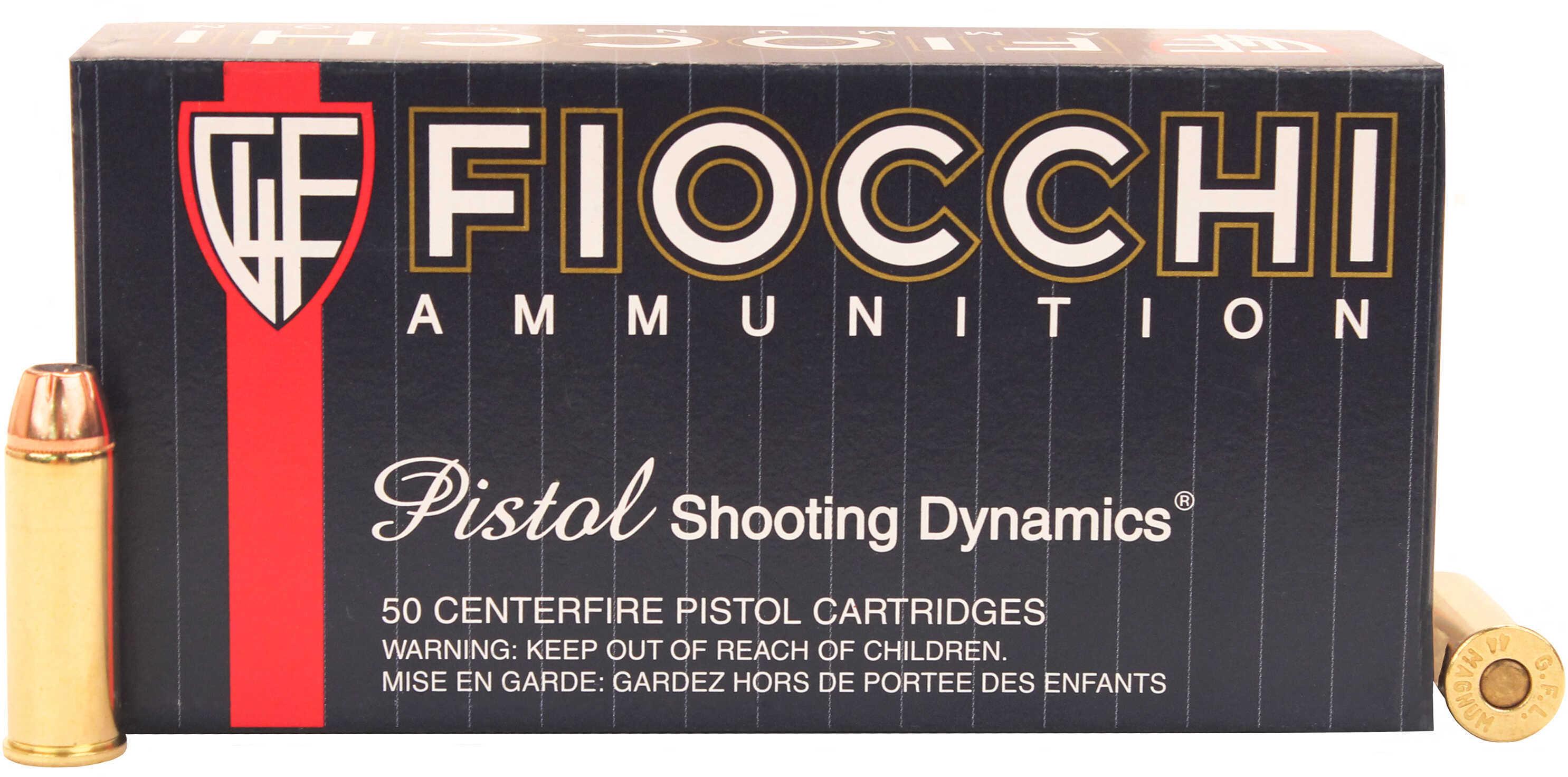 Fiocchi Ammo 44 Remington Magnum 200 Grains Semi-Jacketed Hollow Point SJHP Per 50 Md: 44B500
