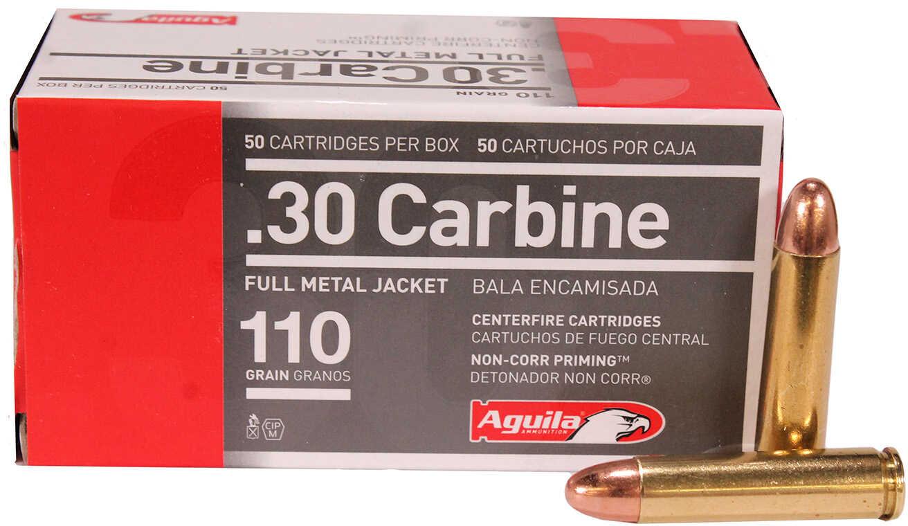 Aguila Ammunition 30 Carbine 110 Grain Full Metal Jacket 50 Round Box 1E302110
