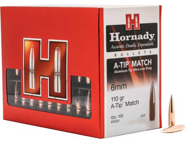 Hornady 24531 A-Tip 6mm 110 Gr Aluminum Ballistic Tip 100 Box