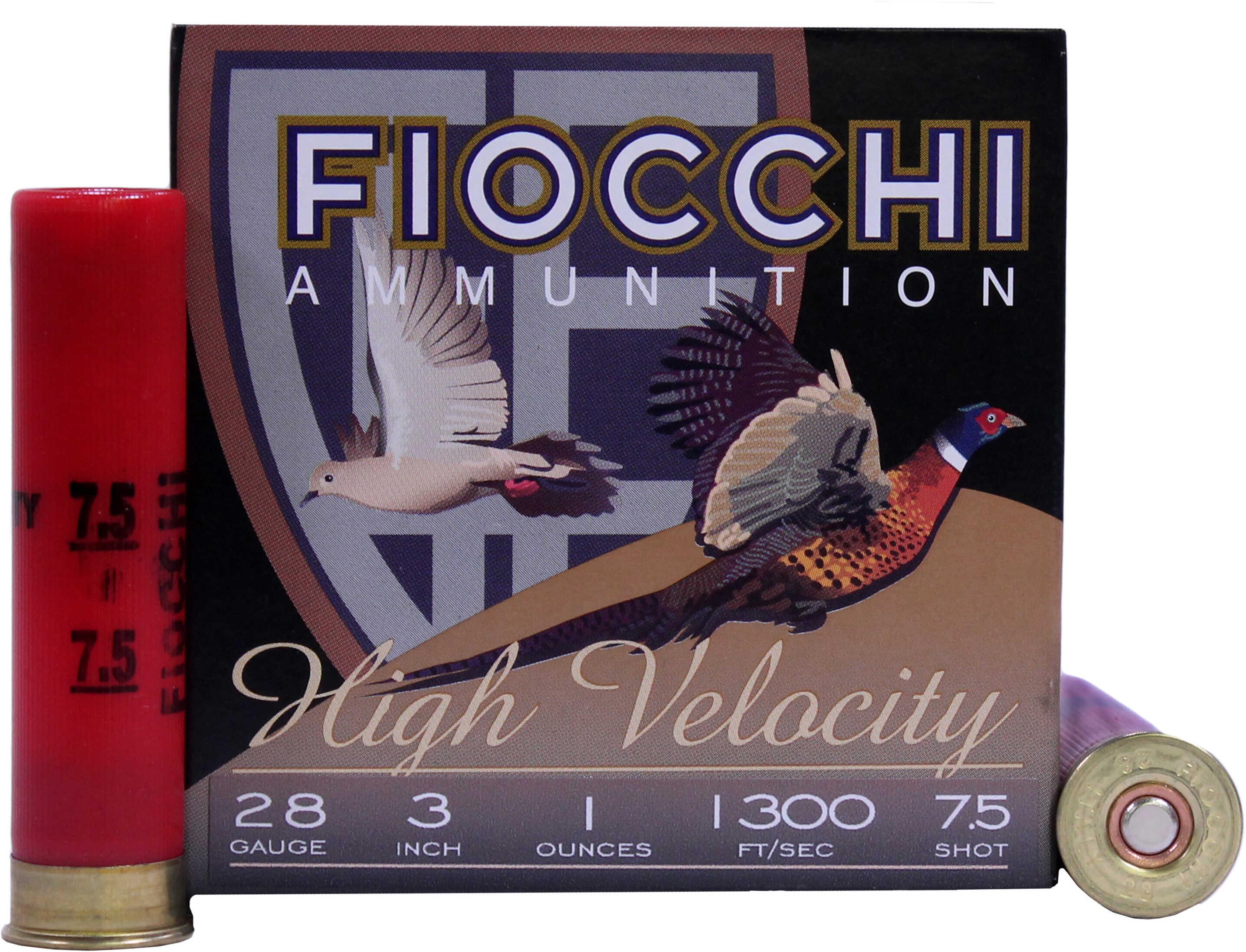 "Fiocchi 283HV75 High Velocity 28 Gauge 3"" 1 Oz 7.5 Shot 25 Bx/10 Cs"