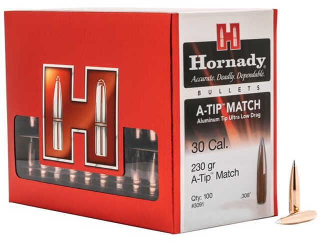Hornady 3091 A-Tip 30 Caliber 230 Gr Ballistic Tip 100 Box
