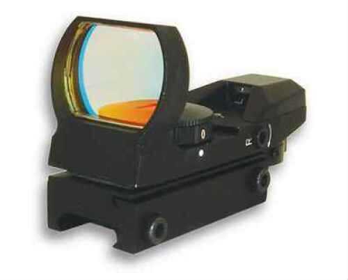 NCStar D4B 1X 24X34mm Obj Unltd Relief 3 MOA 4 Reticle Black