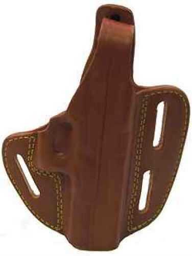 Gold Line 3 Slot Pancake Holster for Glock 17, Chestnut Brown Md: 803-G17