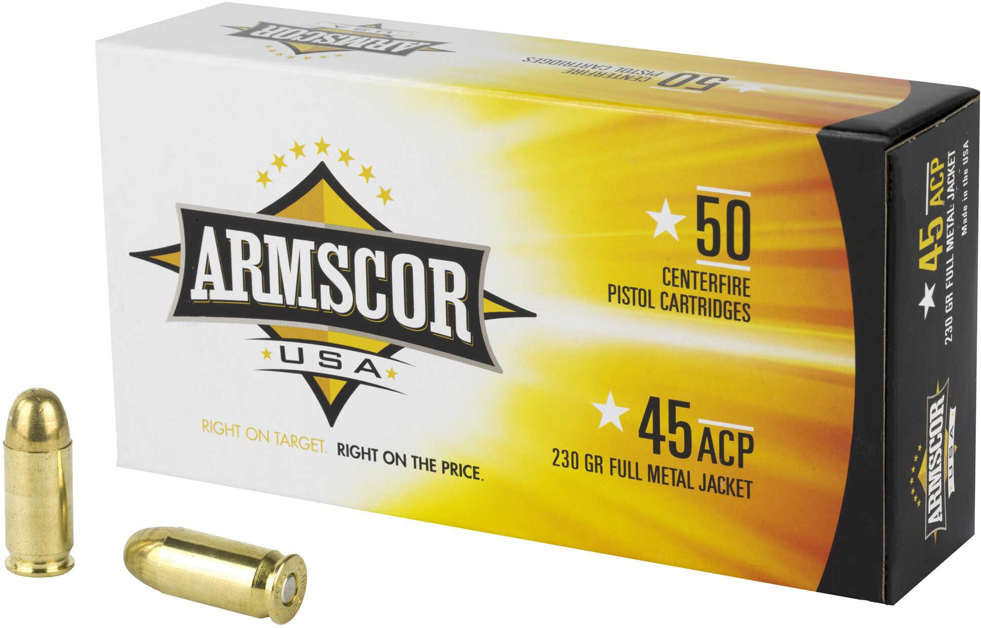 Armscor 45 ACP Full Metal jacket 230 Grain Ammunition 50 Rounds Per Box Md: FAC4512N