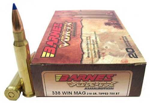 Barnes VOR-Tx 338 Ammunition Winchester Magnum Per 20 Md ...