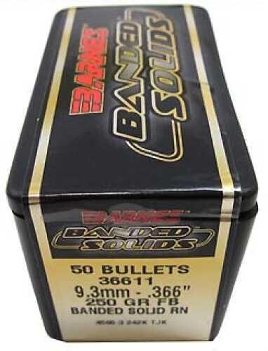 "Barnes Banded Solid Bullets 9.3mm .366"" 250 Grains Round Nose (Per 50) Md: 36611"