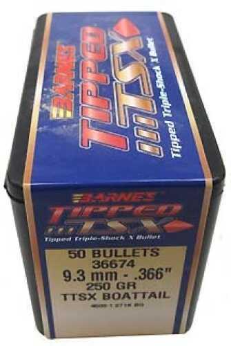 "Barnes Tipped Triple-Shock X Bullets 9.3mm .366"" 250 Grains Boat Tail (Per 50) Md: 36674"