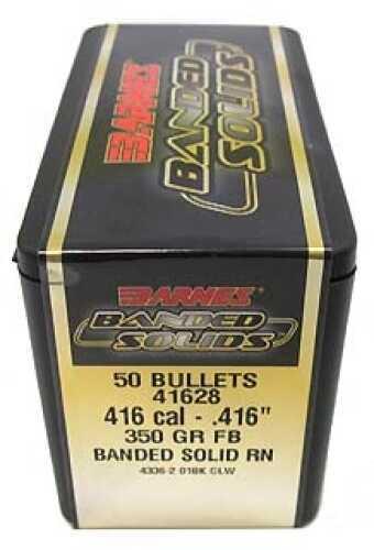 "Barnes Banded Solid Bullets 416 Caliber .416"" 350 Grains Round Nose (Per 50) Md: 41628"