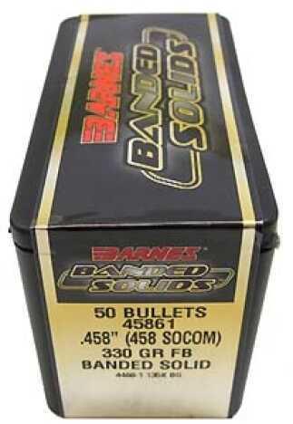 "Barnes Banded Solid Bullets 458 Socom .458"" 330Gr Flat Base (Per 20) Md: 45861"