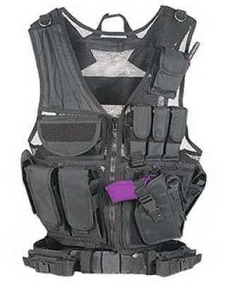 Tactical Vest - Black Md: GM-Tv1