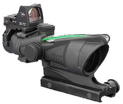 Trijicon ACOG 4X32 Dual Illuminated Green Chevron 223 Ballistic 3.25 Md: Ta31F-G-RMR