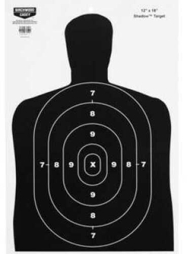 """Birchwood Casey Eze-Scorer Silhouette 12"""" x 18"""" Paper Target BC-27 Indoor/Outdoor, Package of 100"""