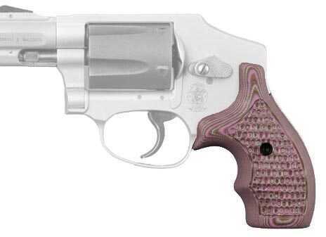 Hogue S&W J Frame Round Butt Grip Bantam Piranha G-10 G-Mascus Pink Lava Md: 61637