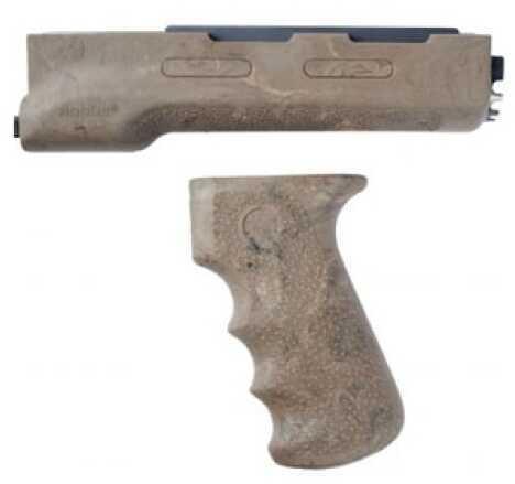Hogue AK-47 Rubber Grip Yugo Style W/Forend, Ghillie Tan Md: 74918