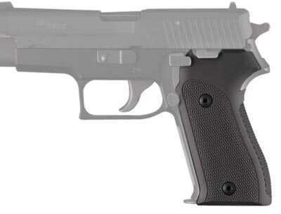 Hogue Sig P225 Checkered Aluminum Matte Black Anodized Md: 27170