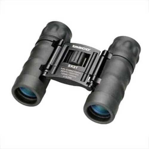 Tasco Essentials Binoculars 8X21 Black, Roof Prism, Compact, Clam Pack Md: 165RBD