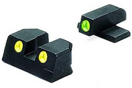 Sig Sauer Tru-Dot Sights 9mm & 357 Sig, Green/Yellow, Fixed Set Md: Ml10110Y