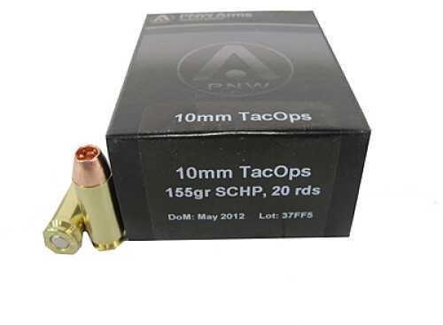 Tacops Ammunition 10mm 155 Gr, Solid Copper HP (Per 20) Md: 10MMTAC155SCHP20