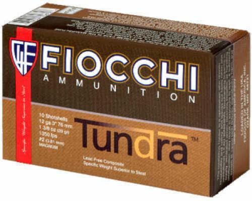 """Fiocchi Tundra 12 Gauge 3"""" #2 1 5/8Oz 5 Rds Ammunition 123tch2"""