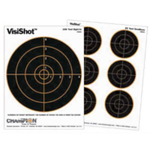 Champion Visishot Targets 25 Yard Small Bore 10 Pack Md: 45803