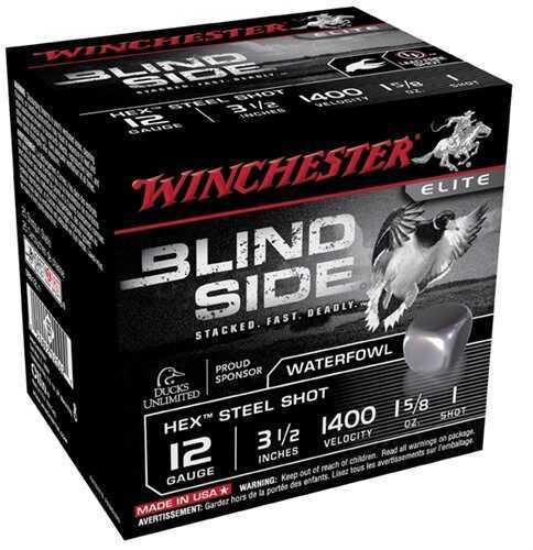 "Winchester Blind Side 12G 3.5"" 15/8 25Bx"