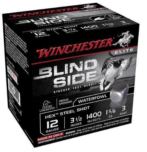 "Winchester 12 Gauge 3.5"" #3 Blind 1 5/8Oz Lead Free Steel"