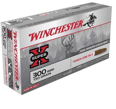 Winchester Super-X 300 WSM 150 Grain Power-Core 95/5 20/Bx (20 rounds Per Box)