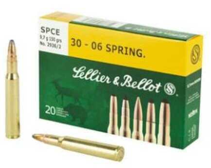 Sellier & Bellot 30-06 Springfield 150 Grain SPCE 20/Box Ammo