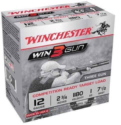 Winchester 3-Gun 12 Gauge 2.75'' 1Oz #7.5 25/Bx (25 rounds Per Box)