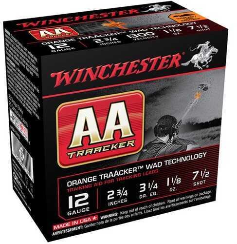 Winchester AA Traacker Orange Wad 12 Gauge 2.75'' #7.5 1-1/8Oz 25/Bx (25 rounds Per Box)