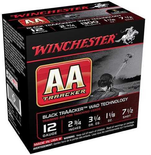 Winchester AA Traacker 12 Gauge 2.75'' #7.5 1-1/8Oz 25/Bx (25 rounds Per Box)