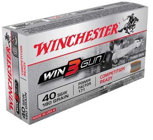 3 Gun 40 S&W 180 Grain (Per 50) Md: X40TG