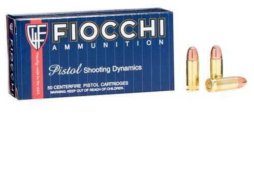 Fiocchi Shooting Dynamics 38 Super Auto 129 Grain FMJ 50/Bx (50 rounds Per Box)