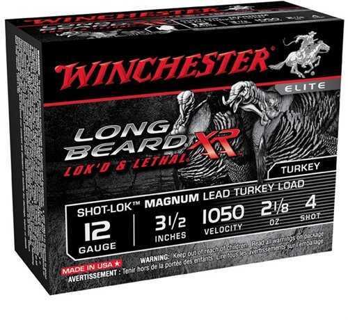 Winchester Long Beard XR 12 Gauge 3-1/2'' 2-1/8Oz #4 10/Bx (10 rounds Per Box)