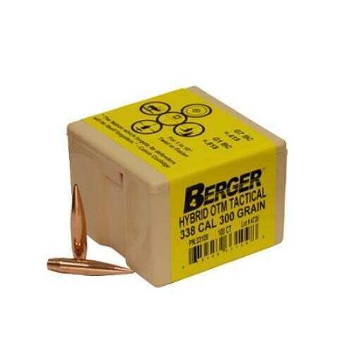 Berger Bullets Match Hybrid OTM Tactical 338 Caliber .338 300 Grains 100 Box 33109