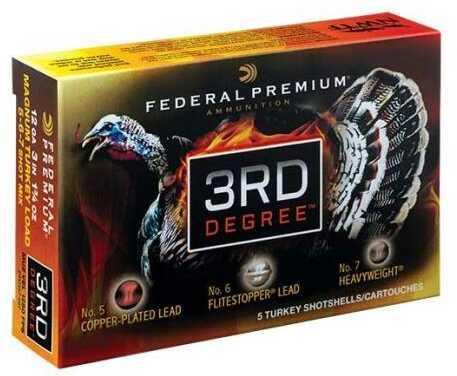 "Federal 3RD Degree 12 Gauge 3-1/2"" 2 oz # 5, 6, 7 Shot with Heavyweight TSS 5/box"