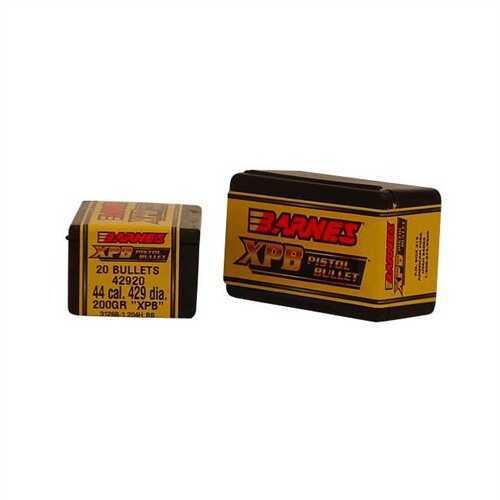 Barnes 44 Caliber 200 Grain X Pistol Bullet Per 20 Md: 42920