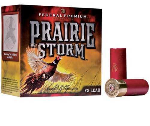"Federal Pf154FS6 Prairie Storm 12 Gauge 2.75"" 1 1/4 Oz 6 Shot 25 Box"
