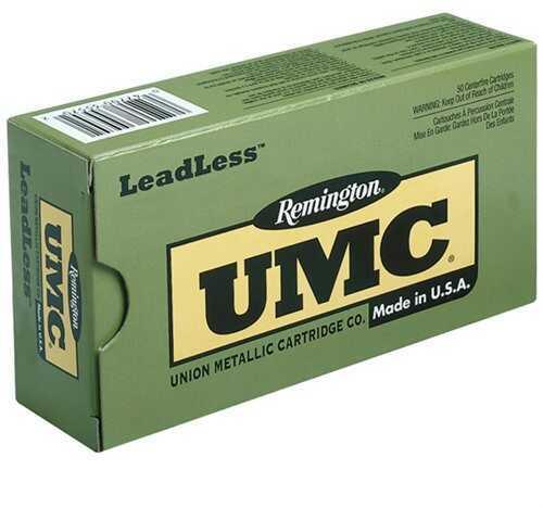 Remington UMC Leadless 9mm 147 Grain FNEB 50/Bx (50 rounds Per Box)