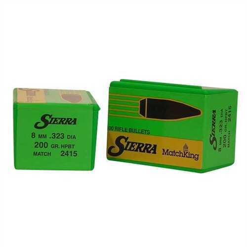 Sierra 8mm 200 Grains HPBT Match Per 100 Md: 2415 Bullets