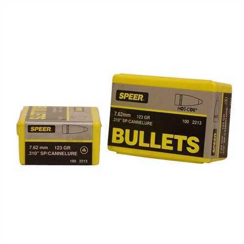 Speer 7.62mm Caliber 123 Grains SP/Cann Per 100 Md: 2213 Bullets