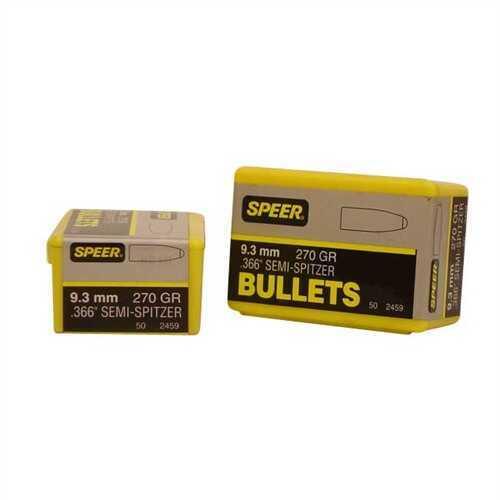"Speer Hot Cor Bullet 9.3MM 270 Grains SP Semi Spitzer .366"" 50/Bo"
