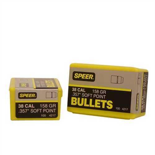Speer 38/357 Caliber Per 100 158 Grains JSP Md: 4217 Bullets