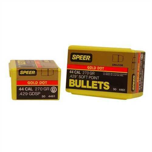 Speer 44 Caliber 270 Grains Gd SP Per 50 Md: 4461 Bullets