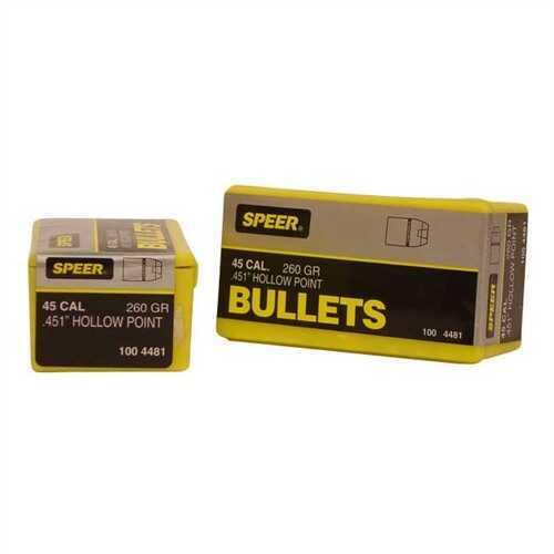 Speer 45 Caliber 260 Grains Mag JHP Per 50 Md: 4481 Bullets