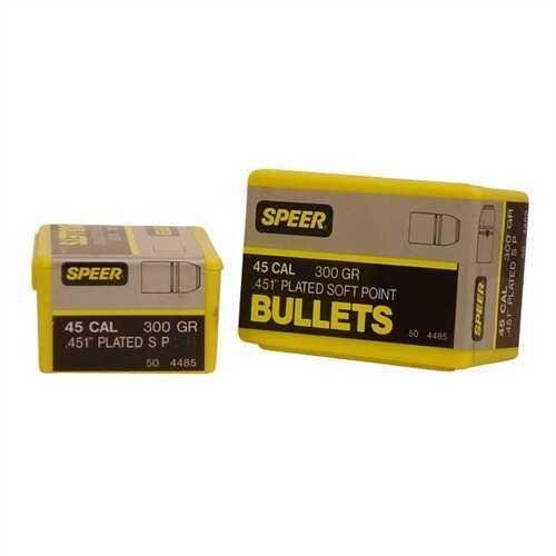 Speer 45 Caliber 300 Grains SP Per 50 Md: 4485 Bullets