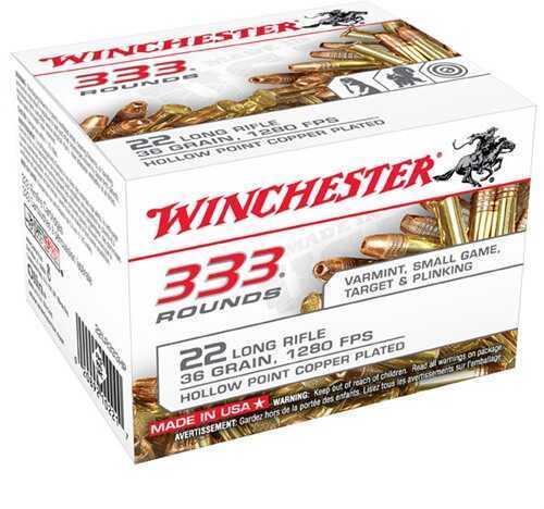 Winchester Bulk Pack 22LR 36 Grain Copper HP Ammunition 22LR333HP